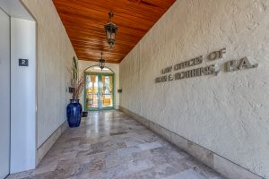 Entryway to Office Building Personal Injury Law Firm in Boca Raton